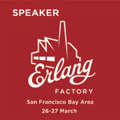 Erlang Factory 2015 San Francisco speaker badge